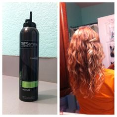 A short way of saying how to get these curls! Get your hair damp Divide your hair into sections. Scrunch it Turn your head over and use a diffuser to dry it about 80%  Don't dry it all the way it will be frizzy. On a humid day you might want to make sure your bottle is frizz free!  I used treseme curl care - flawless curls mousse.