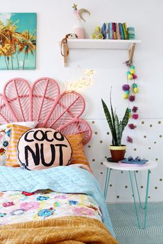 Girls bedroom ideas kids bedding and decor modern boho bedroom ideas more. Diy Home Decor Bedroom For Teens, Kids Decor, Decor Ideas, Decorating Ideas, Bright Bedroom Ideas, Boho Ideas, Kids Bedroom Ideas For Girls, Kids Girls, Diy Ideas