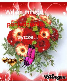 Gify i obrazki na dni tygodnia: Wierszyki i gify - poniedziałek Weekend Humor, Good Morning Funny, Beautiful Roses, Floral Wreath, Pictures, Disney, Google, Good Night, Balcony