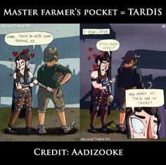 Master Farmers' pockets = TARDIS.