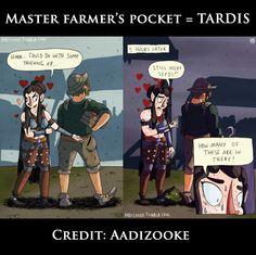 Master Farmers' pockets = TARDIS.