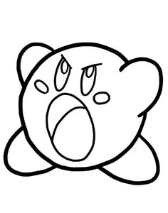 kirby angry kirby coloring pages angry kirby coloring pagesfull size image