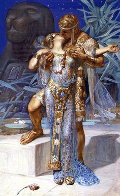 """Antony and Cleopatra""-JC Leyendecker"