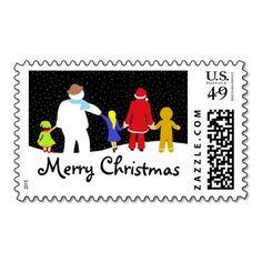 The Christmas Gang Holiday Postage Stamps