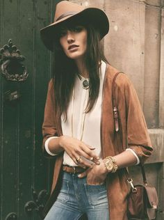 Really love this look--simple, adventurous, yet sophisticated.