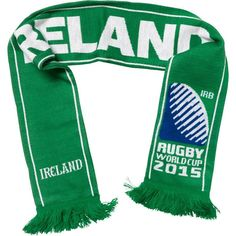 Ireland - Rugby WC 2015 Scarf Ideal Gift for all Rugby Fans Scarf Dimensions x approx Brand New with Tags - Header Card Official Licensed Ireland Rugby, Rugby World Cup, Irb Rugby, Header, Cards, Gift, Maps, Gifts