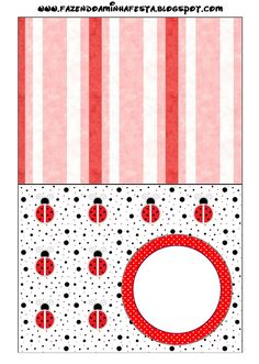 Lovely Ladybugs Free Printable Candy Bar Labels.