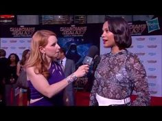 Zoe Saldana Talks About Gamora at Marvel's Guardians of the Galaxy Red Carpet Premiere - YouTube