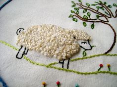 Sheep embroidery.