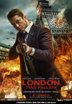 High resolution official theatrical movie poster ( of for London Has Fallen Image dimensions: 1038 x Directed by Babak Najafi. London Has Fallen Movie, Fallen London, Funny Movies, Hd Movies, Movie Archive, Star Wars, Kino Film, Adventure Movies, Internet Movies