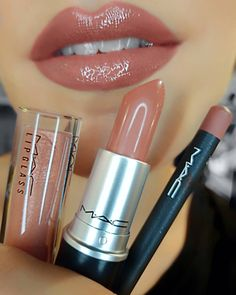 These 32 Gorgeous Mac Lipsticks Are Awesome - Shiny pretty things, Open presence lipstick , Boldy bare lip pencil - Hair and Beauty eye makeup Ideas To Try - Nail Art Design Ideas Beauty Make-up, Beauty Hacks, Beauty Tips, Beauty Blogs, Hair And Beauty, Beauty Zone, Beauty Bay, Beauty Shop, Beauty Makeup