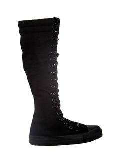 5dd4286a90fe33 Black Friday Deal NEW Canvas Sneakers Flat Tall Punk Skate Shoes Lace up  Knee High Boots FOR KIDS (3