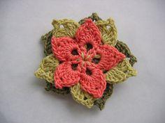 Flower Broach Free Crochet Pattern