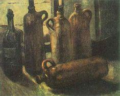 Vincent van Gogh. Still Life with Five Bottles. Nuenen: Nov 1884