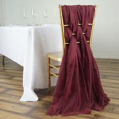 Wedding Chair Sashes, Bow Tie Wedding, Wedding Chairs, Wedding Reception Decorations, Wedding Ceremony, Gold Wedding, Diy Wedding, Burgundy Wedding Theme, Wedding Stuff