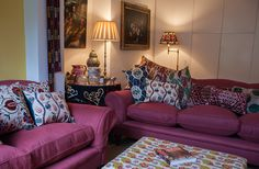 Susan Deliss's sitting room, photograph by Andrew Steel