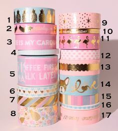 Recollections Washi Tape Full Roll Perfect masking tape for scrapbooks,planners, DIY! Stationary Store, Stationary School, Cute Stationary, Washi Tape Diy, Duct Tape, Masking Tape, Washi Tape Planner, Washi Tapes, Tape Crafts