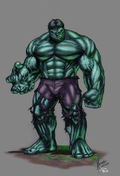 #Hulk #Fan #Art. (Dale Keown- Hulk 2) By: Veikira. ÅWESOMENESS!!! [THANK U 4 PINNING!]