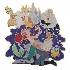 DISNEY LITTLE MERMAID Cast Jumbo LE Pin