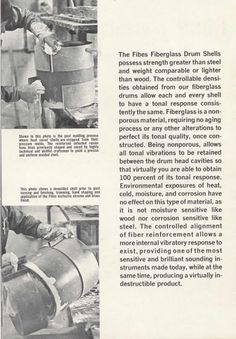 How Fibes drums are made -- from an early Fibes catalog