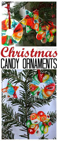 These Christmas Candy Ornaments are a surprisingly easy diy craft idea. Perfect for hanging on your Christmas tree or giving as gifts! Christmas Crafts For Kids, Christmas Activities, Diy Christmas Ornaments, Christmas Candy, Homemade Christmas, All Things Christmas, Holiday Crafts, Christmas Holidays, Christmas Decorations