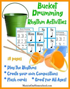 The Incredible Benefits of Including Bucket Drumming in your Homeschool - Music in Our Homeschool Preschool Music, Music Activities, Teaching Music, Bucket Drumming, Online Music Lessons, Northwestern University, Workout Warm Up, Music For Kids, Guitar Lessons