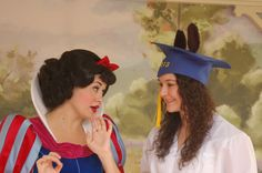 Great idea! Cap and gown pics at Disney