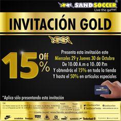 Invitación Gold Aprovecha!!! #nike #adidas #reebok #levis #cali #salomon #popayan #puma #timberland