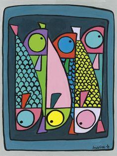 La boite de sardines - 60 x 40 cm