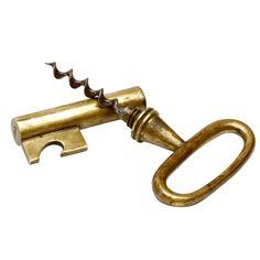 Carl Aubock Key Corkscrew with Bottle Opener