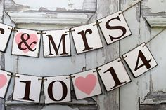 Wedding Banners Save the Date MR & MRS Signs by WineCountryBanners