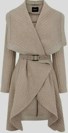 Oasis England Ladies Drape Coat