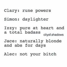 Not your bitch best powet 3cer I men yeah all shadowhunters have angelic powet but Alec he isnt your bitch