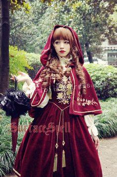 Bourbon Dynasty Series Baroque Embroidery Lolita Cape $70.99-Lolita Jackets - My…