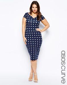 Plus size dress asos us curve