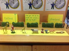 Continuous provision challenge. Ordering people and animals by height.