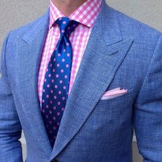 Complete Wealth Mag Blazers, Ties, Polka dots, Pocket squares, Accessories, Color pop, Gingham