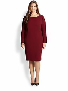 Lafayette 148 New York, Salon Z Lucida Leather-Trimmed Dress
