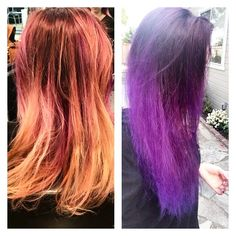 #beforeandafter #transformation  of @santacruzvaper - we did a #colormelt with #pravana #vivids #lockedin #purple - lower #color was diluted with pravana #clear - #love it!  #bright #popofcolor #beauty #cosmetology #student #future #artist  #haircolor #haircolor #haircut #stylist #salon #hair #salonlife #bleach #balayage #gorgeous #longhair #redken #beautyschool http://tipsrazzi.com/ipost/1523601601759407512/?code=BUk65WcFe2Y