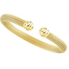 7.5 Inch 14K Yellow Gold Mesh Cuff Bracelet null. $1789.98