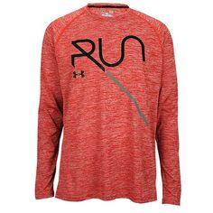 Footlocker - Under Armour Heatgear Reflective Run L/S Graphic TShirt - Men's - Running - Clothing - Red/Black