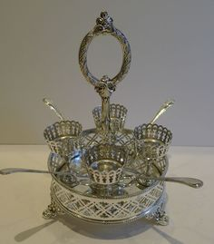 Antique English Silver Plated Egg Cruet c.1880