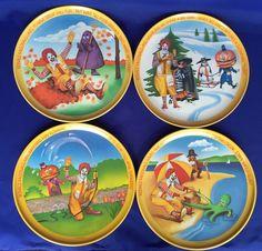 4 McDonald's Four Seasons Plates Unused 1977 VTG 10  Melamine Plastic Dinner #Lexington