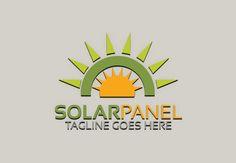 Solar Panel Logo by Josuf Media on @creativemarket