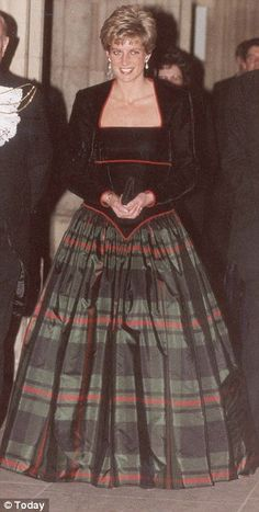 Diana in Scotland, Scottish Dancing Ball Gown c. 1991--worn by Diana, Princess of Wales.