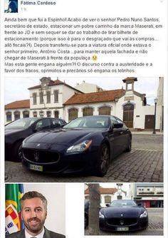 VERGONHA - Secretário de Estado aparece de Maserati