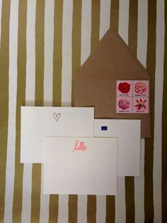 Social Stationery Set, hand stamped and embossed by RHCollection, $14.00