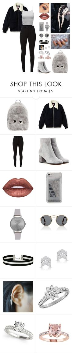 """""""Unbenannt #492"""" by aysuyucel ❤ liked on Polyvore featuring Anya Hindmarch, Lacoste, Victoria Beckham, Gianvito Rossi, Lime Crime, Agent 18, Olivia Burton, Prada, Miss Selfridge and Anne Sisteron"""
