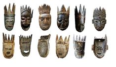 Nepal Nepalese Crowned mask Art Premier, Himalayan, Tribal Art, Nepal, Art Inspo, Folk, Faces, Crown, Japanese