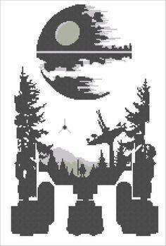 02bc511382f BOGO FREE! Star wars droid R2D2 Death Star Star wars - pdf cross stitch  pattern instant download